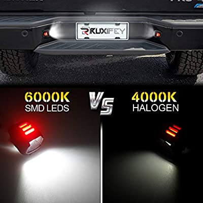 RUXIFEY LED License Plate Light with Red OLED Neon Tube Compatible with Navara D40 Frontier Titan Xterra Armada Suzuki Equator: Automotive