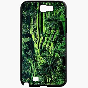Unique Design Fashion Protective Back Cover For Samsung Galaxy Note 2 Case Bali Nature View Nature Black