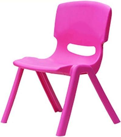 HOUSEHOLD Silla de plástico para niños, Silla de Estudio para niños con Respaldo, sillas Escolares apiladas, Silla de Escritorio jardín de Infantes, Escuela, hogar: Amazon.es: Hogar