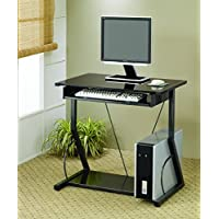 Coaster Home Furnishings Transitional Computer Desk, Black
