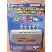 Emerson Switchboard - Gets Calls & Faxes While You're Online with ONE Phone Line