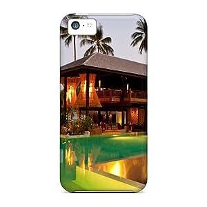 Unique Design Iphone 5c Durable Tpu Case Cover Spa Beach Hotel