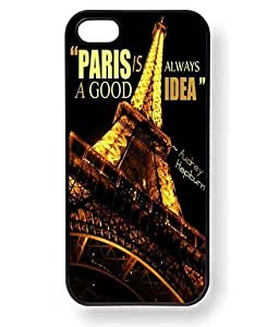 Paris is Always a Good Idea Audrey Hepburn Quote Phone Case for iPhone 4 / 4S (Black)