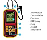 Gowe Handheld Digital Ultrasonic Wave Velocity Thickness Meter Tester Gauge Metal and Non-Metal 1.2~225.0mm (Steel) Range