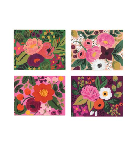 Assorted Vintage Blossom Notecards by Rifle Paper Co. - Set of 8 Cards and Envelopes