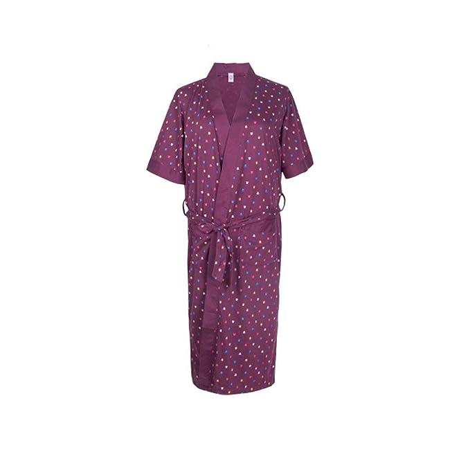 Mujer Kimono Elegantes Moda Hermoso Chic Lunares Verano Especial Estilo Batas Camisones Manga Corta V-Cuello Albornoz Pijamas Mujer con Cinturón: Amazon.es: ...