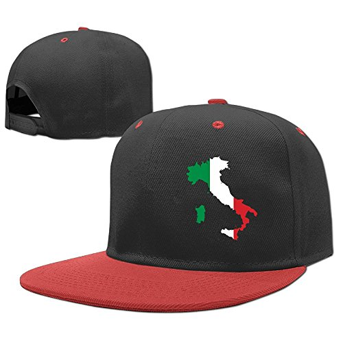 YELOFISH Kids' Hip Hop Baseball Caps Italia Flag Map Snapback Hats