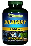 TNVitamins Bilberry 1200 Mg. Softgels – 100 Capsules (100 Capsules) Review