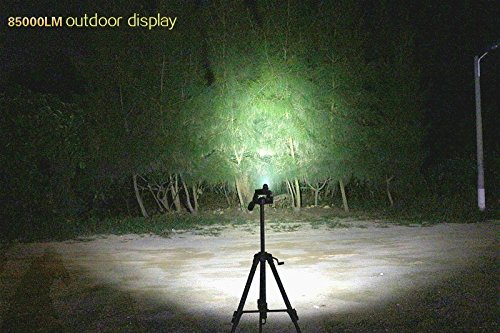 Super Bright 1600 Lumen LED Torch Flash Light,Tactical Flashlight Rechargeable,Linterna 18650 Flashlight (Black Set) by WISSBLUE (Image #5)