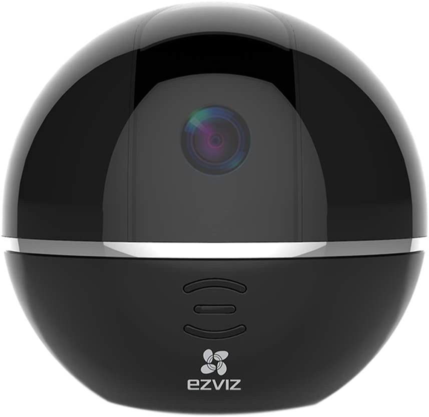 EZVIZ Pan Tilt Camera 1080p 360 Rotating Dome Security Surveillance Night Vision Auto Motion Tracking Pet Baby Monitor Two Way Audio Compatible with Alexa WiFi 2.4G Only BK CTQ6Tc