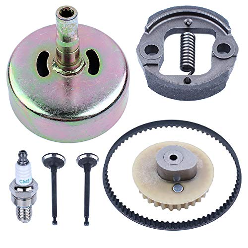 - Adefol Camshaft Pulley Gear Timing Belt 9 Teeth Clutch Drum 7pcs Kit for Hond GX35 HHT35S Lawn Mower Engine Replacement Parts with Intake Valve, Exhaust Valve, Clutch Drum Pull Pin, Spark Plug