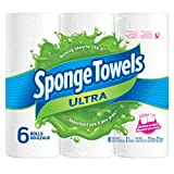 SpongeTowels Ultra Paper Towels, Choose-a-Size Regular Roll, 2-ply, 80 Sheets per Roll - 6 Rolls