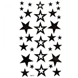 King Horse temporary tattoos waterproof non-toxic new solid hollow five-pointed star