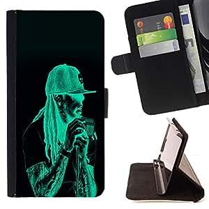 - Neon Rasta Guy - - Prima caja de la PU billetera de cuero con ranuras para tarjetas, efectivo desmontable correa para l Funny HouseFOR Samsung Galaxy S3 III I9300