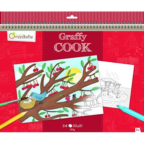 Coloriage Gourmandise Kawaii.Elegant Avenue Mandarine Gy032o Un Carnet De Coloriage Set De Table