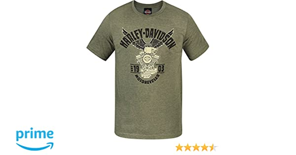 Harley-Davidson Military Lightweight Graphic T-Shirt Camp LeatherneckEagle