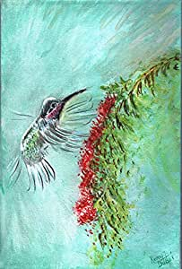 Humming Bird Painting - Canvas Art Print - Wall Art