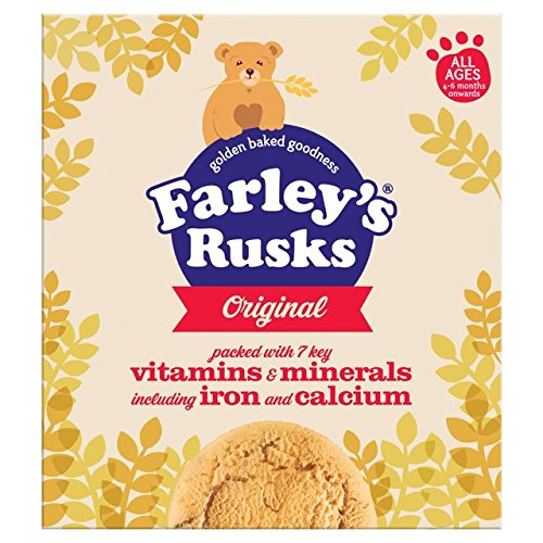 THREE PACKS of Heinz Farley's Original Rusks x 18 (=300g) by Heinz