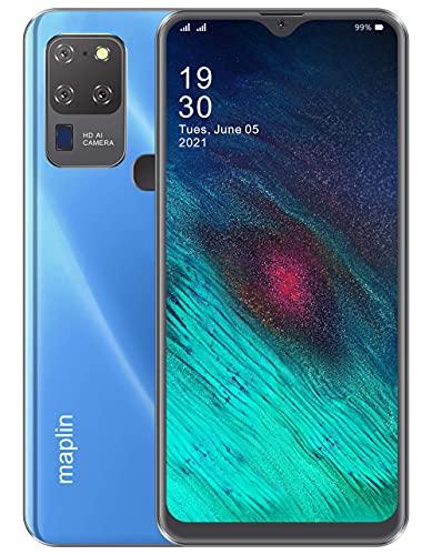 Maplin Map4-Max 5G (4GB / 64 GB) with 6.53 Inch Screen and 5000 mAh Smartphone in Aqua Blue