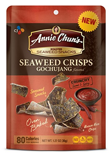 Annie Chun's Seaweed Crisps, 1.27 Ounce (Pack of 10)