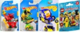 Hot Wheels 2017 New Casting Ride On 3 car bundle in Protective Cases With Lego Minifigures Series 17 Blind Pack