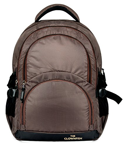 The Clownfish 30 Ltrs Peanut Brown Laptop Backpack (TCFBPPO-SKPBR1)