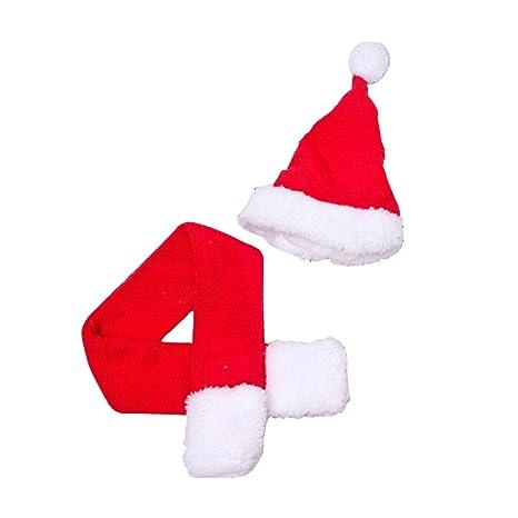 Ouken Navidad del Gato del Traje de los Sombreros de Santa ...