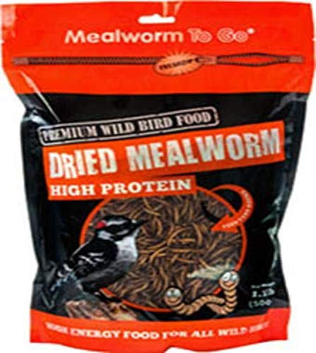 Unipet Usa Wb125 Mealworm To Go Dried Wild Bird Food, 1.1 Lb
