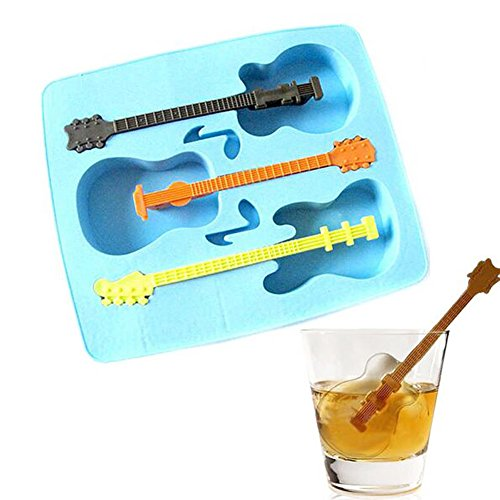 [mk. park - New 1Pc DIY Silicone Ice Chocolate Cake Maker Mould Cube Trays Mold Guitar Shape] (Diy Frozen Ice Monster Costume)