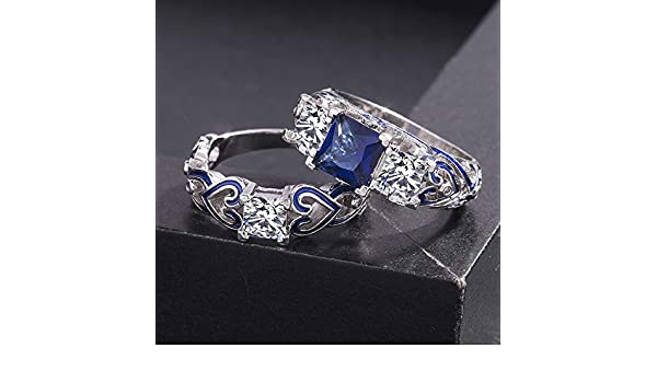 Amazon.com: European Square Crystal Women Engagement Wedding ...
