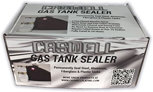 Caswell Epoxy Gas Tank Sealer Motorcycle Kit - Up To 10 Gal. Cans