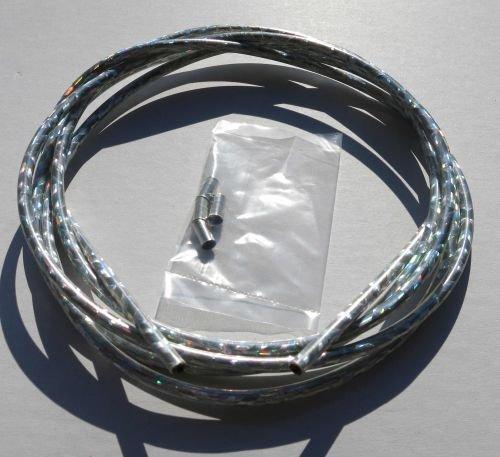 Au/ßenzug Bowdenzug Silber Konfettiglanz metallic 2,50 m 5 mm Classic Cycle