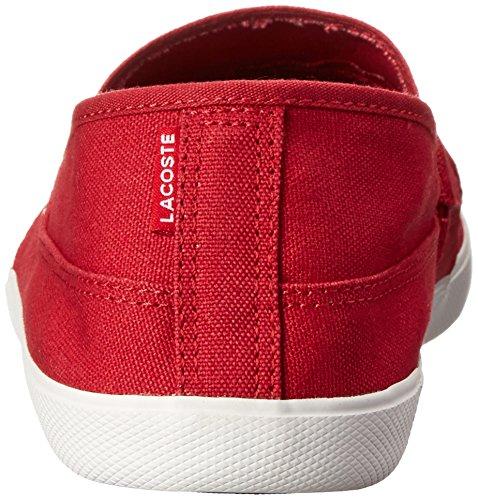 Lacoste Mens Marice Canvas Loafer Rosso Scuro / Rosso Scuro