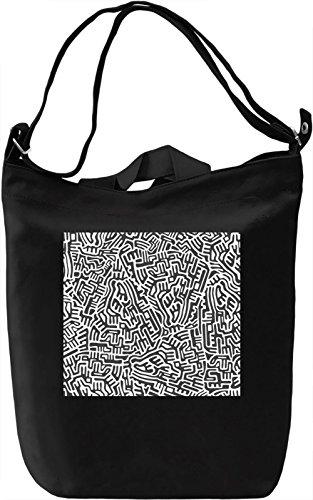 Black and White Modern Texture Borsa Giornaliera Canvas Canvas Day Bag  100% Premium Cotton Canvas  DTG Printing 