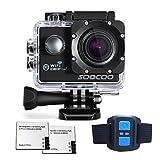 Action Sports Camera Waterproof SOOCOO Remote Action Camera Full HD 1080P Wifi Action Camera with EXTRA 1350mAH BATTERY