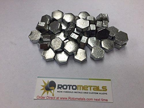 Zinc Hexagonal Anode Pieces 99.995% Box of 12 Pounds - Iron Ingot Bar