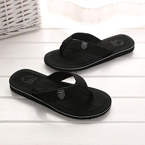 Casual Zapatillas Sandalias Intemperie Zapatos Nuevo Verano y Chancletas negro Interior WINWINTOM Chanclas 2018 Verano Playa Hombres Sandalias UqwzFfxn65