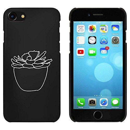 Noir 'Plante Succulente' étui / housse pour iPhone 7 (MC00090714)