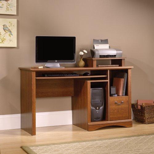 Sauder Camden County Computer Desk, Planked Cherry Finish (Sauder Computer Furniture)