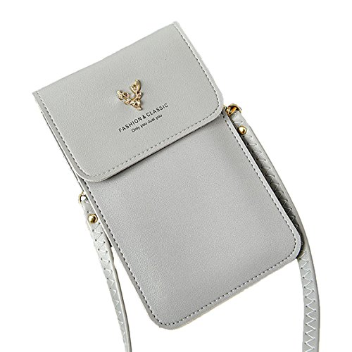 Bags Wallet Cell Grey Purse Case Purse Touch Phone OURBAG Crossbody Phone Screen Ladies Crossbody w77HRq6