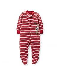 Newborn Baby Girl BoyChristmas Pyjama 1-Piece Microfleece Snap-Up Sleeper-