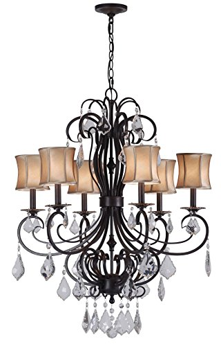 World Imports Lighting 8852-89 Annelise 6-Light Crystal Chandelier