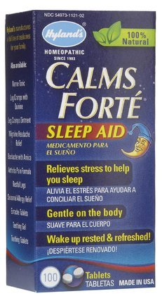 Hyland's Calms Forte Sleep Aid Tabs, 100 ct (Quantity of 4)