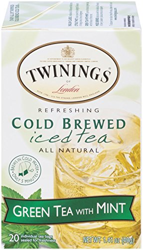 Twinings Cold Brew Tea, Green Tea with Mint, 20 Count Bagged Tea (6 Pack) (Tea Green Refreshing)