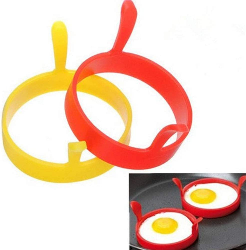 Moule pour /œuf au Plat Parfait ou Anneaux de cr/êpes Anneaux de Cuisson pour /œufs antiadh/ésifs Ronds Egurs 2 Anneaux d/œuf en Silicone