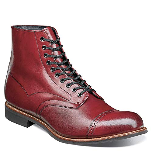 STACY ADAMS Men's Madison Cap Toe Lace Up Boot Cranberry 9 D US