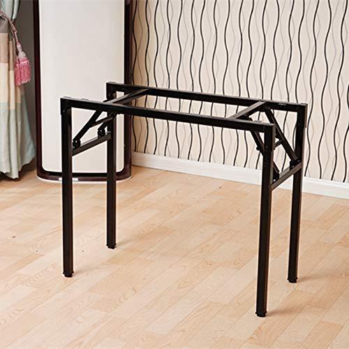 Metall-matbord ben, svart fällbara möbelben, skrivbord/bar bordsställ, flera storlekar
