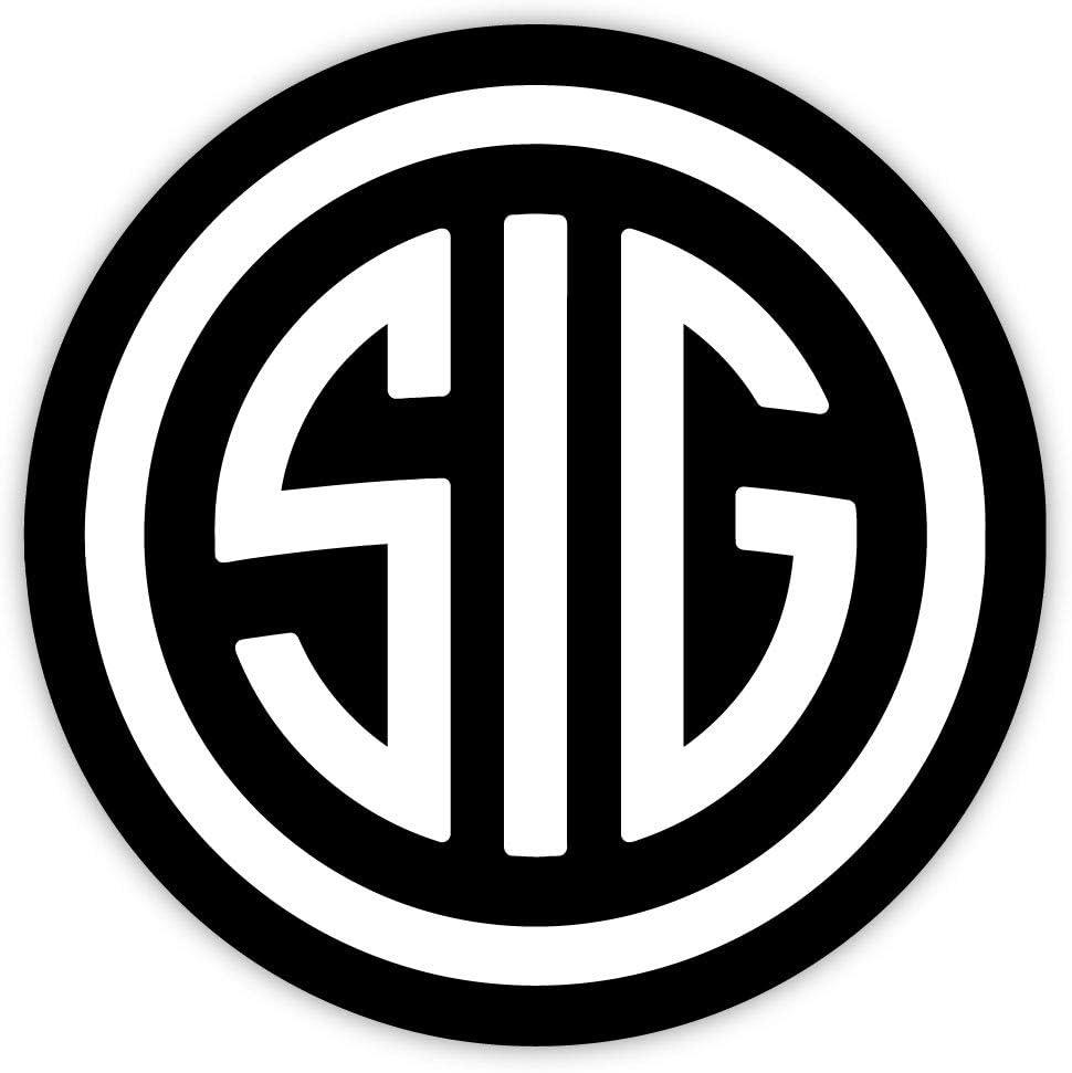 "SIG black sticker decal 4"" x 4"""