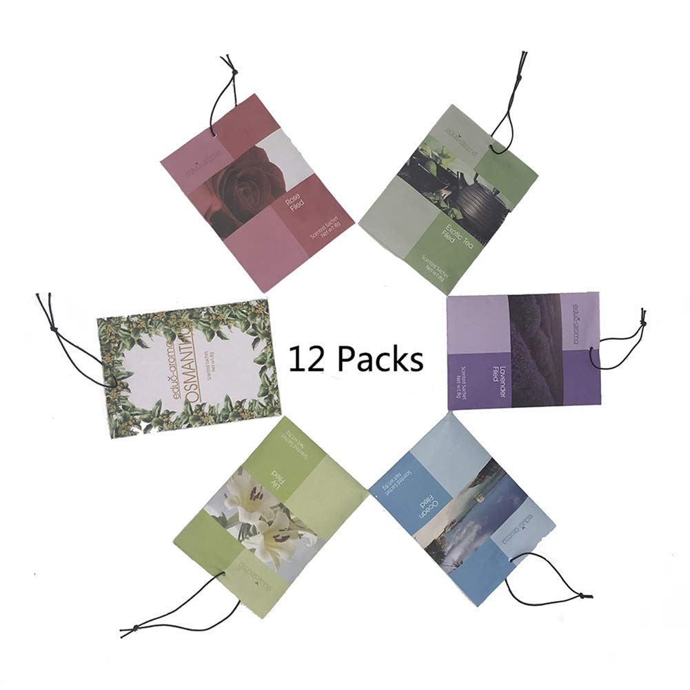 Scented Sachets Bag for Drawers Deodorizer Fragrance and Closets Fresh Scents 12 Pack