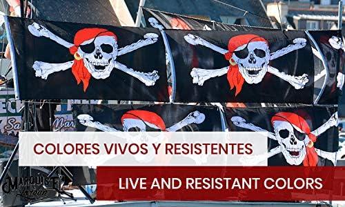 MARQUISE & LOREAN Bandera De Barco Pirata Pata Palo Grande Súper ...